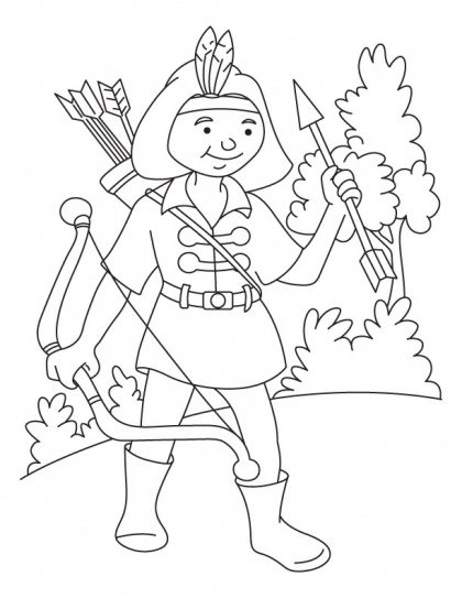 archery coloring pages free - photo#19