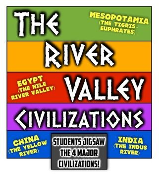 The River Valley Civilizations: Students Analyze Mesopotamia, Egypt, India, & China! Tigris-Euphrates, Nile River Valley, Indus River Valley, the Yellow River!