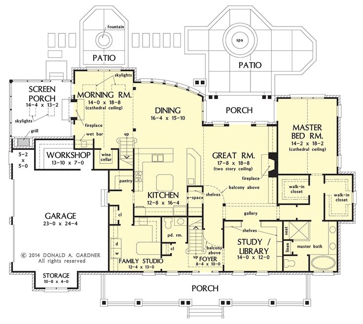 House plan on the drawing board 1407 brick and stone for House plans one story with bonus room