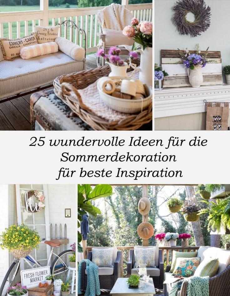 25 wundervolle Ideen für die Sommerdekoration für beste Inspiration