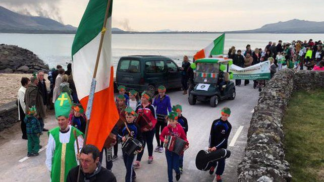 A small parade takes place in west Kerry