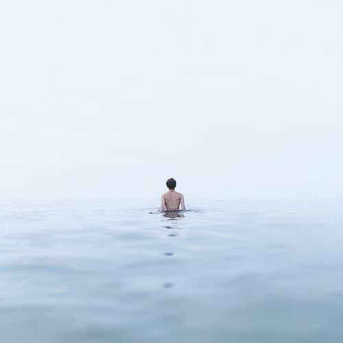 sea, alone, and water image