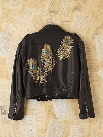 Vintage Wild Unknown Hand-Painted Leather Jacket. http://www.freepeople.com/vintage-loves-brushed-beauties/vintage-wild-unknown-hand-painted-leather-jacket-26722421/