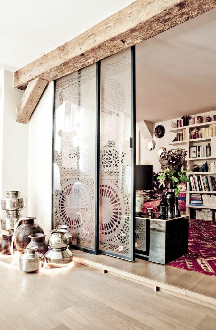 une jolie salle de séjour avec cloison amovible ikea