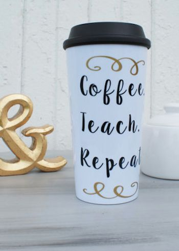 cute travel mug for the teacher