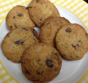 Cookies con chips de chocolate hechas con thermomix