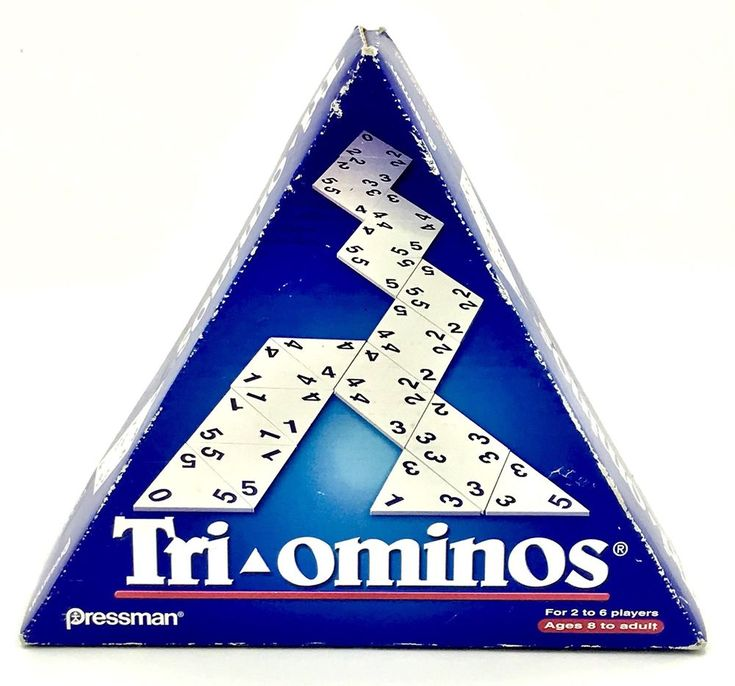 Tri-ominos Pressman Toys 2002 Complete Like Dominoes Tile Game Party Family Fun