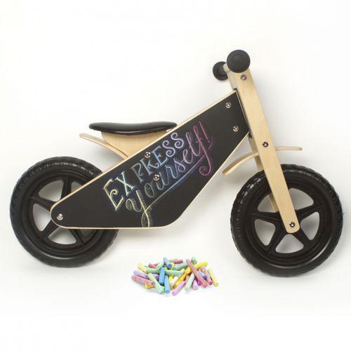 Draw On Me Wooden Balance Bike For Children | giftwrappedandgorgeous.co.uk