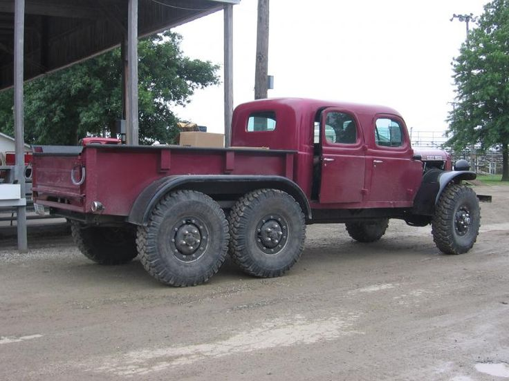 Crew cab, extended bed, 6x6 Dodge power wagon, must take a lot to get that moving! Also must be a great vehicle for moving people and a lot of equipment over very tough terrain.