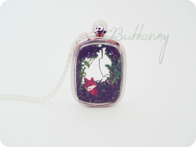 Buttonsy Fairytale Necklace - Fox Burrow (Folksy) £32.00