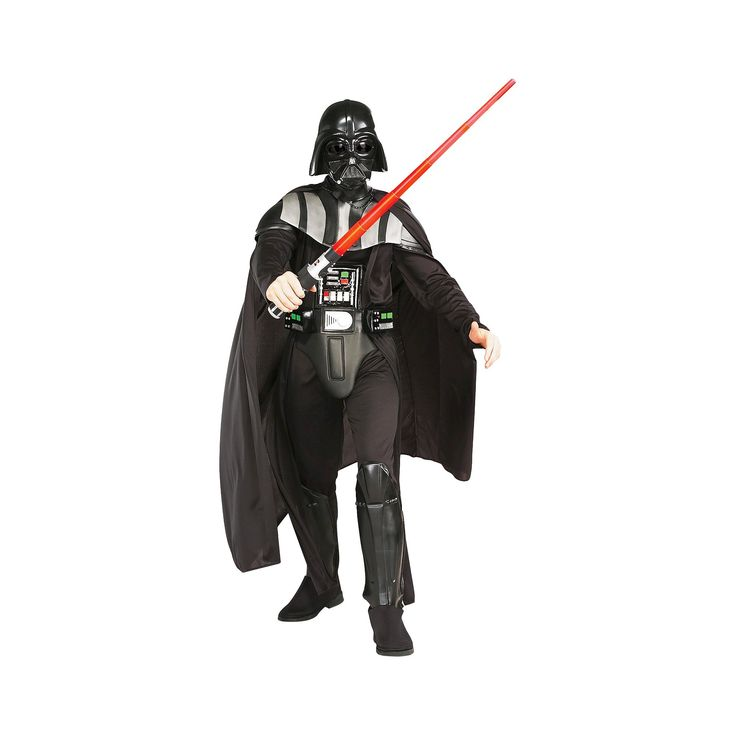 Halloween Star Wars Darth Vader Adult Costume One Size Fits Most, Men's, Black