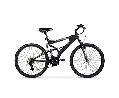 Kissemoji Havoc full suspension 26 Bike 21 Speed Mountain Bike Bicycle Shimano Bike Black Black *** Click on the image for additional details.