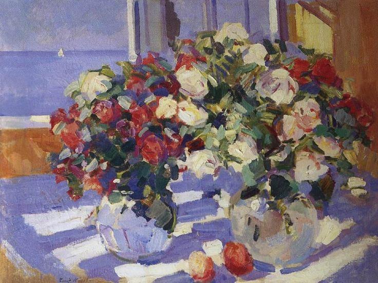 Константин Коровин. Розы