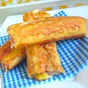Oeh, dat is eens een lekkere lunch voor kinderen: tostirolletjes! Ook leuk voor een uitgebreid ontbijt. Recept op http://dekinderkookshop.nl/recepten-voor-kinderen/tostirolletjes/