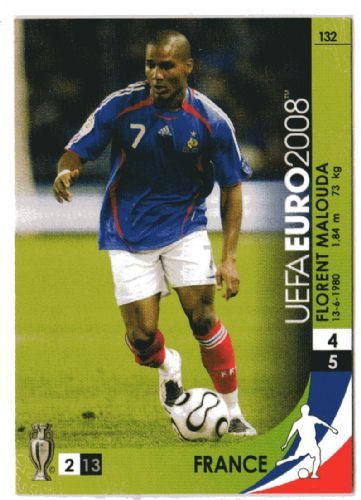 Florent Malouda of France. Euro 2008 card.