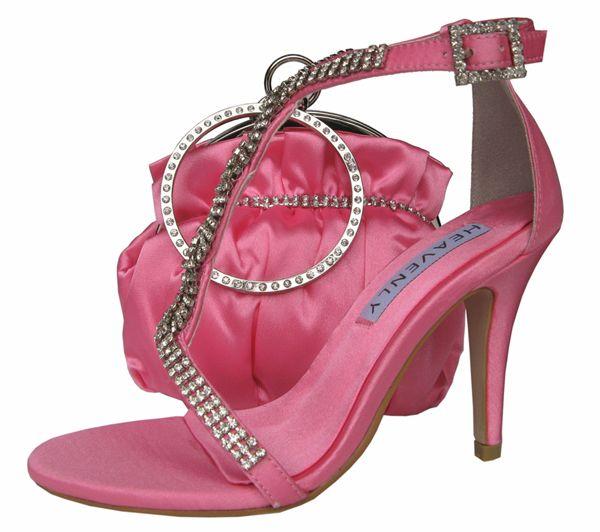 Bernice Candy Pink Evening Sandals. #pinkeveningsandals