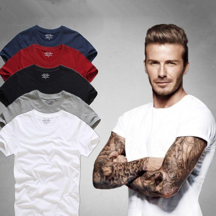 トップ品質男性の半袖綿100%のtシャツ男性2016夏afsブランドシャツ無地カジュアル男性トップス&を·ティー