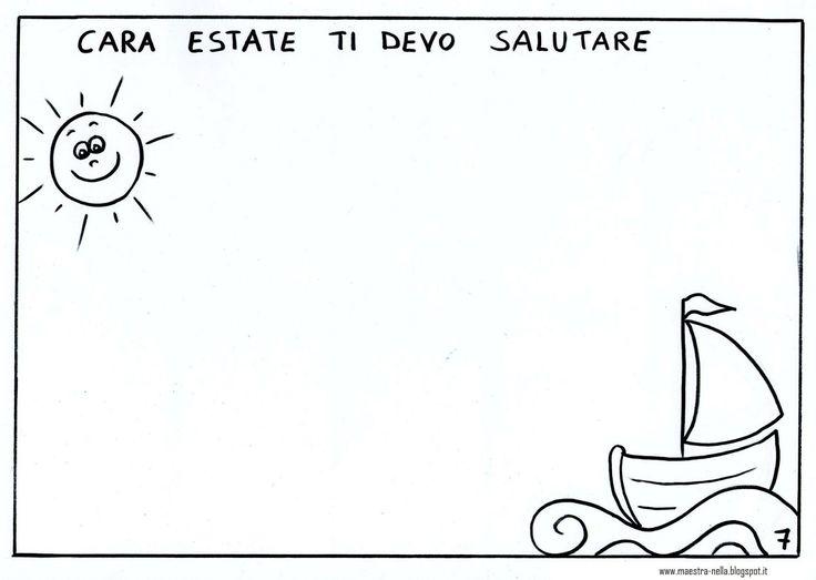 Maestra Nella Libricino Ciao Estate Vado A Scuola καλοκαιρι