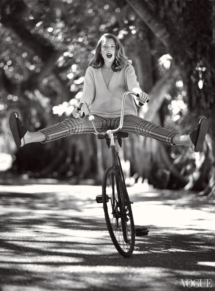 From the Archives: Bicycles in Vogue - Photographed by Bruce Weber, Vogue, June 2013