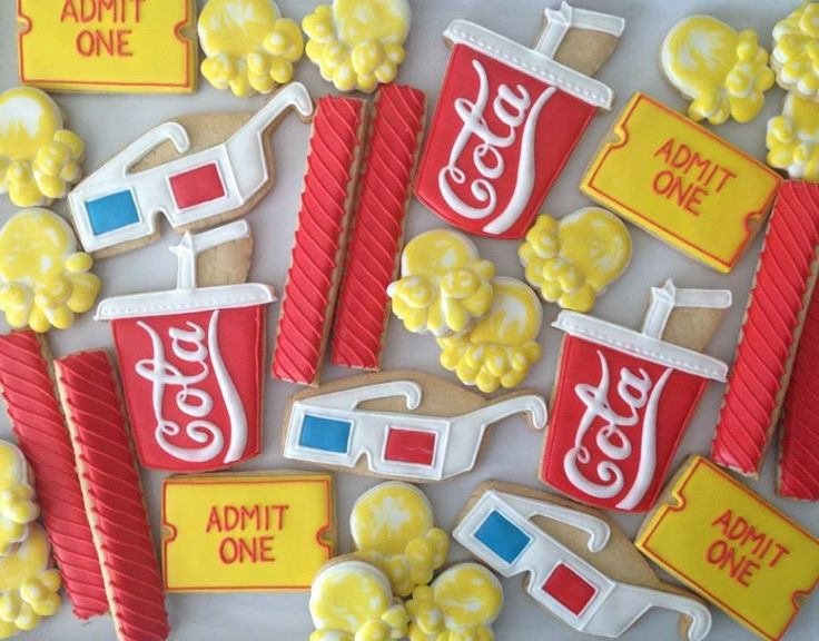 Movie Theater Concessions (Decorated Cookies)
