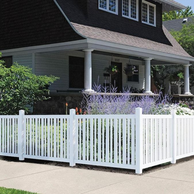Https Mobileimages Lowes Com Product Converted 090489 090489195199 Jpg Size Pdhi In 2020 Outdoor Essentials White Vinyl Fence Vinyl Fence Panels