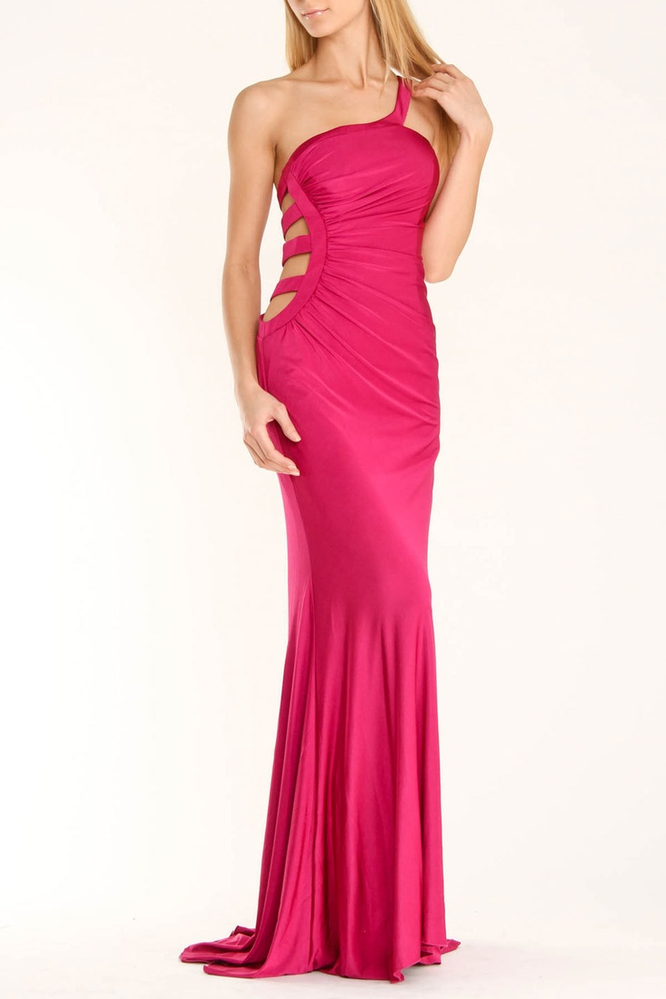 Issue Ny Long Cut Out Dress In Fuchsia Beyond The Rack Formal Wedding Dressesfashion