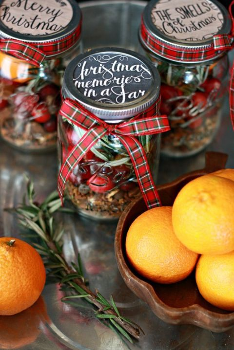 These jars —filled with quintessential Christmas scents, like rosemary, cranberry, and mulling spices—are the perfect gift for your friend that wishes the season lasted all year.