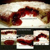 La mia crostata veloce _ mandorle & fragole