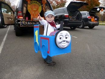 Trick or Treat! A Kind-of-Easy DIY Thomas Costume | Love the Ludwigs