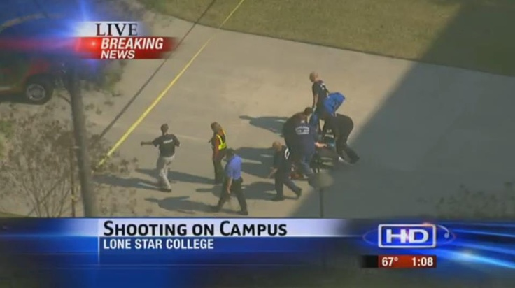 "A shooting on the campus of Lone Star College in Houston, Texas, this afternoon caused the school to call for a lockdown and then to evacuate it students while police searched for suspects.    UPDATE: Texas College Shooting Leaves 3 Injured, ""Person of Interest"" in Custody http://abcn.ws/YlfL6k"