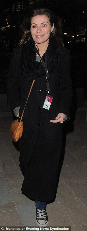 ... , but co-star Alison King dressed down in jeans and scruffy Converse boots...
