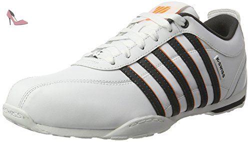 K-Swiss Hoke CMF, Sneakers Basses Homme - Blanc (White/Wild Dove), 41 EU