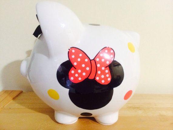 Personalized  Large Piggy  Bank  Disney by KUTEKUSTOMKREATIONS