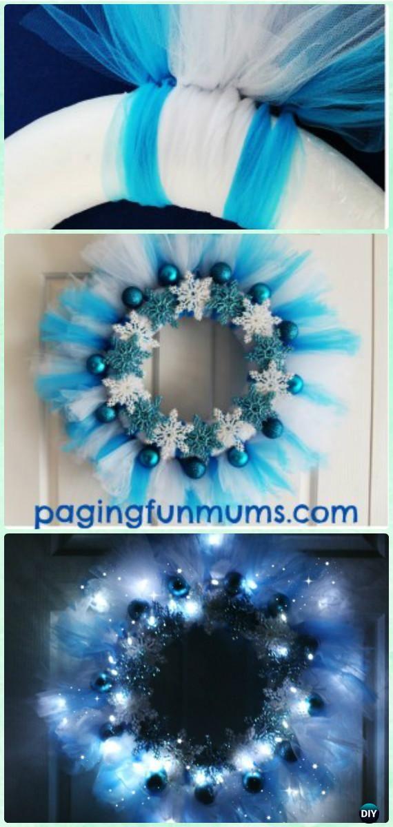 DIY Disney Frozen Wreath Instructions- #Christmas #Wreath Craft Ideas Holiday Decoration