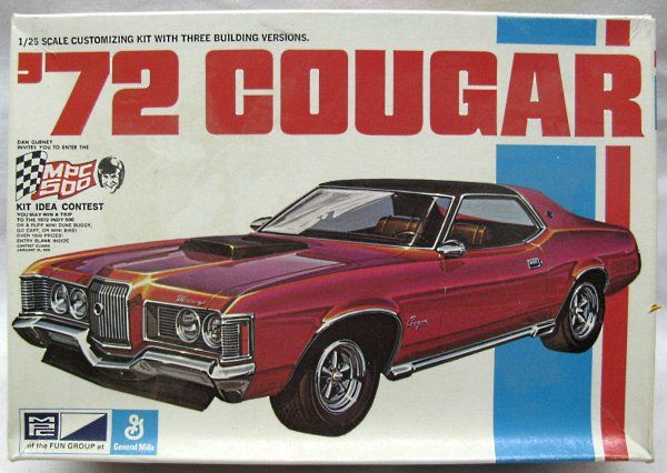 1972 mercury cougar xr 7 box art model carbox artmercury