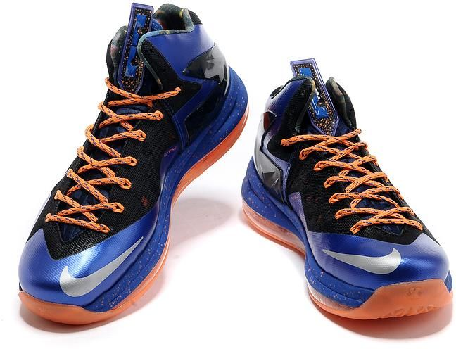 off Again to Buy Nike Lebron 10 PS Elite Black Varsity Royal Blue Tangerine  Silver Sparkle with Western Union -Cheap Lebron James Shoes