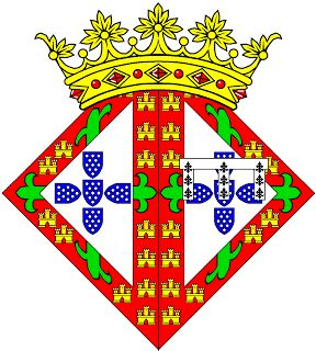 Heráldica Real Portuguesa: Maio 2008 - Isabel (rainha) - Lisonja de Armas de D. Isabel (1432-1455) Rainha de Portugal Casou com seu primo-irmão o Rei D. Afonso V. Partida: primeiro, Armas de D. Afonso V (Portugal/Aviz); segundo, Armas de D. Pedro, seu pai, Infante de Portugal e Duque de Coimbra.