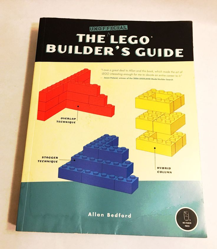 The Unofficial LEGO Builder's Guide Book by Allen Bedford. Build a LEGO mosaic and so much more! Great gift!