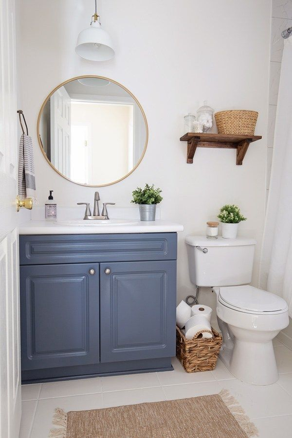 A 100 Budget Bathroom Makeover Transformation With 5 Easy Tips For Making Over Your Ba Small Bathroom Makeover Bathroom Renovation Diy Budget Bathroom Remodel