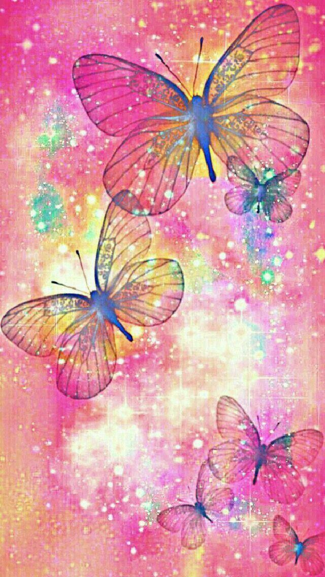 Brillantes Mariposas Coloridas Sparkly Colorful Butterflies Mariposas Fondos De Pantalla Fondos De Pantalla De Iphone Fondo De Pantalla Animado