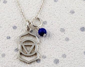 #thirdeye chakra necklace #etsy #etsyshipsworldwide #lapisnecklace #wellness jewellery