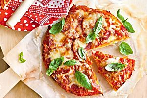 For those of us that can't have gluten, this pizza dough is a sure-fire winner.