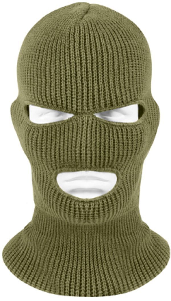Od Green Acrylic 3 - Hole Military Cold Weather Ski Face Mask Usa Made 5503 dd706fc7755
