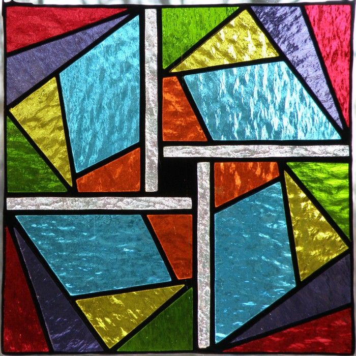 10 best images about stained glass geometric on pinterest for Window pane quilt design