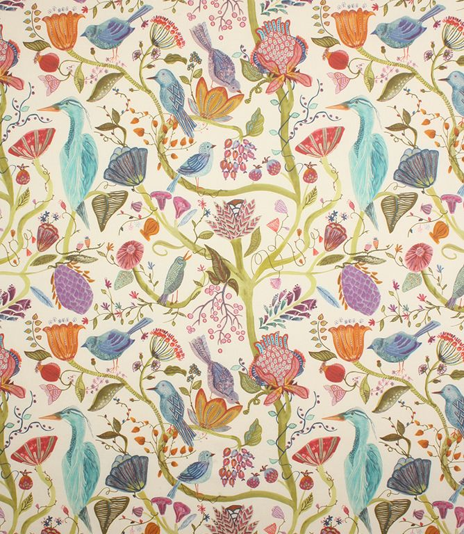 Voyage Decoration Lindu Fabric / Summer Ecru - a beautiful new Voyage fabric