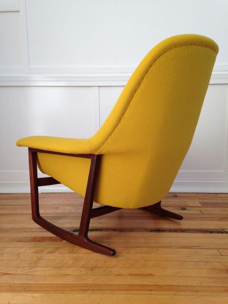 1000 id es sur le th me chaise bascule sur pinterest for Chaise eames jaune moutarde