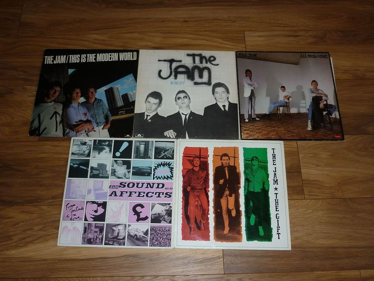THE JAM - 5 x VINYL LP s In The City Modern World Mod Cons Gift Sound Affects