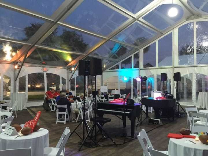 Clear Span Pavilions can be erected on any surface, concrete, grass, decking etc. They do not have any center poles or guy ropes and can be positioned very close to buildings and fences, or placed up to buildings to incorporate another room or verandas.