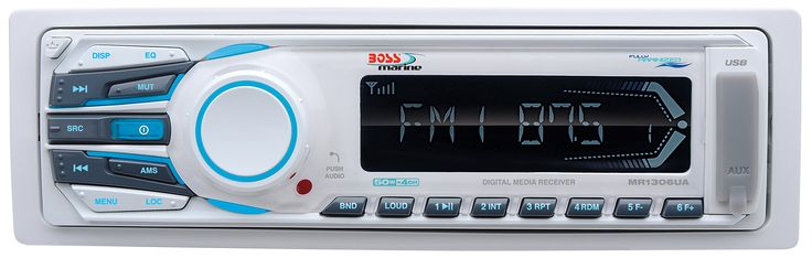 BOSS AUDIO MR1306UA Marine Single-DIN MECH-LESS  Receiver, Detachable Front Panel, Wireless Remote