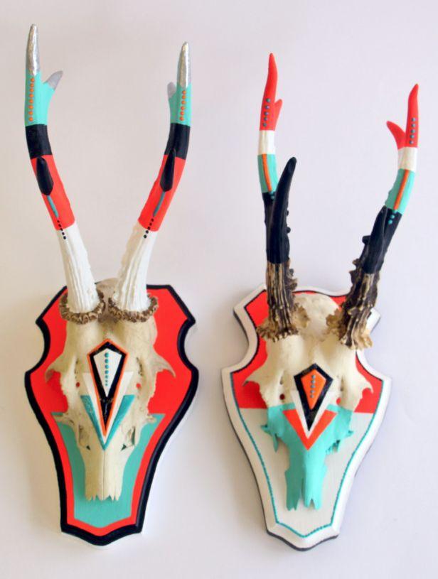 Painted Antler Inspo! #diy #design #crafts